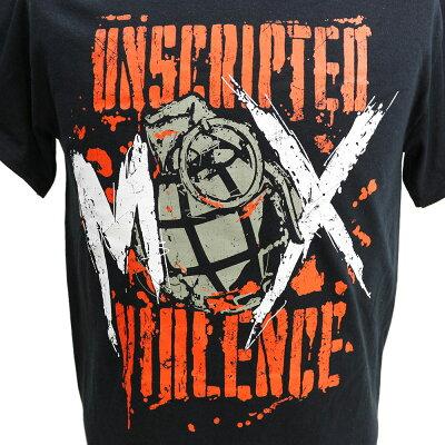 AEWJonMoxley(ジョン・モクスリー)UnscriptedViolenceブラックTシャツ