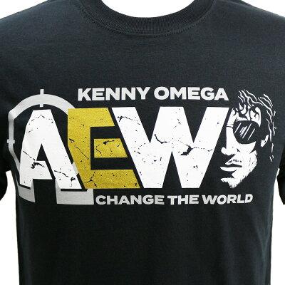 AEWKennyOmega(ケニー・オメガ)ChangeTheWorldブラックTシャツ
