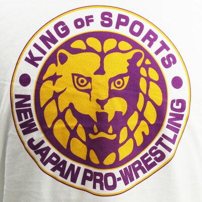 【US版】新日本プロレスNJPWライオンマークLakersホワイトTシャツ
