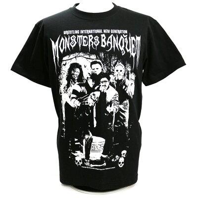 W☆ingモンスターズ・バンクェットブラックTシャツ