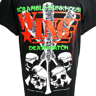 W☆ingScrambleBunkhouseDeathmatchブラックTシャツ