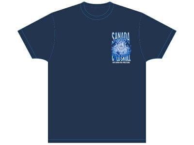 新日本プロレスNJPWSANADA×HONGOLIAN(ネイビー)Tシャツ