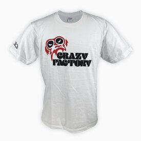 【メール便対応】[バックドロップ限定カラー] CRAZY FACTORY 葛西純 x YB3 Tシャツ (ブラック×レッド)