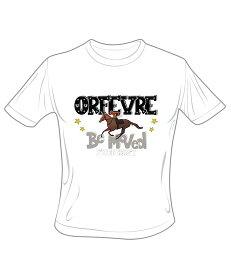 [クリアランスセール] 【メール便対応】オルフェーヴル スーパーホース列伝 Tシャツ (ホワイト)