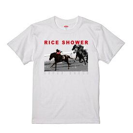 [クリアランスセール] 【メール便対応】ライスシャワー スーパーホース列伝 バックドロップ限定 Tシャツ (ホワイト)