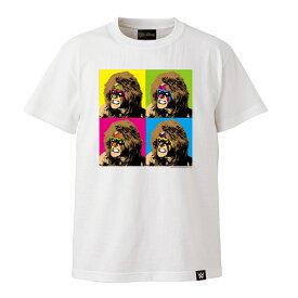 [クリアランスセール] 【メール便対応】WWE TWOPLATOONS × アルティメットウォリアー コラボレーション (ホワイト) Tシャツ