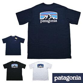 パタゴニア Tシャツ 半袖Tシャツ 定番Tシャツ フィッツロイ レスポンシビリティー Tシャツ patagonia M's Fitz Roy Horizons Responsibili T-Shirt プリントTシャツ P6ロゴ ■品番 38501