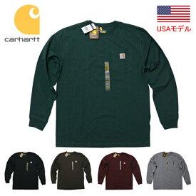 カーハート ロンT Tシャツ ポケT 1ポイント Carhartt Workwear Pocket Long-Sleeve T-Shirt K126 メンズ 長袖 無地 ポケット付き 定番モデル USAモデルUSカーハート ビッグサイズT ビッグシルエットT ヘビーウェイトT アメリカサイズ WIP UK