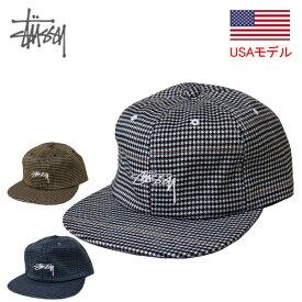 ステューシー キャップ 帽子 STUSSY SMALL CHECK STRAPBACK CAP ストックロゴ ストラップバック メンズ・男性用 ■品番131827■