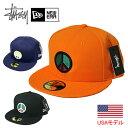 ステューシー × ニューエラ キャップSTUSSY × NEW ERA CAP PEACE SIGN NEW ERA CAP ベースボールキャップ あす楽対応 NEWERA 59FIFTY 59フィフティ