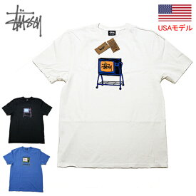 ステューシー Tシャツ STUSSY ROLLING TV PIG. DYED TEE 半袖Tシャツ ピグメント加工 ユーズド加工 後染め加工 ビンテージ加工 古着風加工 ■品番 1904672 送料無料