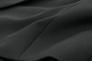 【ブラックフォーマル】テープ使いのゆったりテーラージャケットアンサンブル(110011134)【喪服/礼服】【卒業式/卒園式】【フォーマルワンピース】