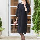 バルーンスリーブサマーフォーマルワンピース(110822557) ブラックフォーマル 喪服 礼服 レディース 女性 ワンピース 大きいサイズ 40代 ウォッシャブル対応 かわいい フォーマル 夏用 お