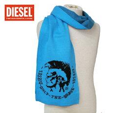 【送料無料】DIESEL(ディーゼル) ロゴマフラー 00CQ0Z 00UUD 80R ブルー×ブラック