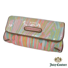 送料無料 ジューシークチュール JUICY COUTURE スパンコール付 三つ折りポーチ YSRU1880 828