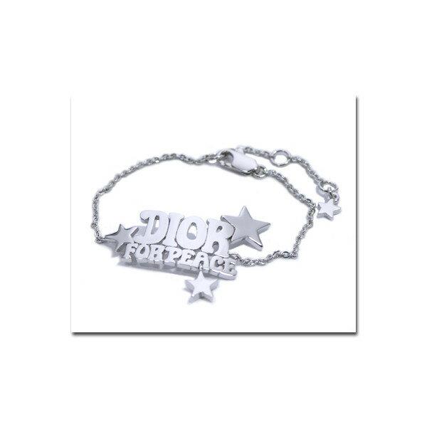 【Christian Dior】クリスチャン・ディオール FOR PEACE ロゴ&スターブレスレット PEA01022