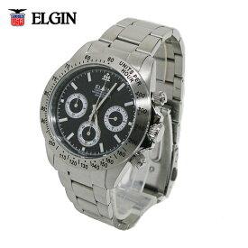 送料無料 エルジン/ELGIN クロノグラフ 20気圧防水 メンズ腕時計 FK1059S-B