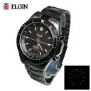 送料無料 エルジン/ELGIN アナデジ BLACK IPメッキ仕上げ 電波ソーラー腕時計 FK1415B-BP