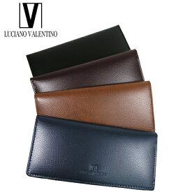 <送料無料>LUCIANO VALENTINO ルチアーノバレンチノ 牛革 本革 ウォレット 長財布 LUV-8001(BK/BR/CA/NV)4色