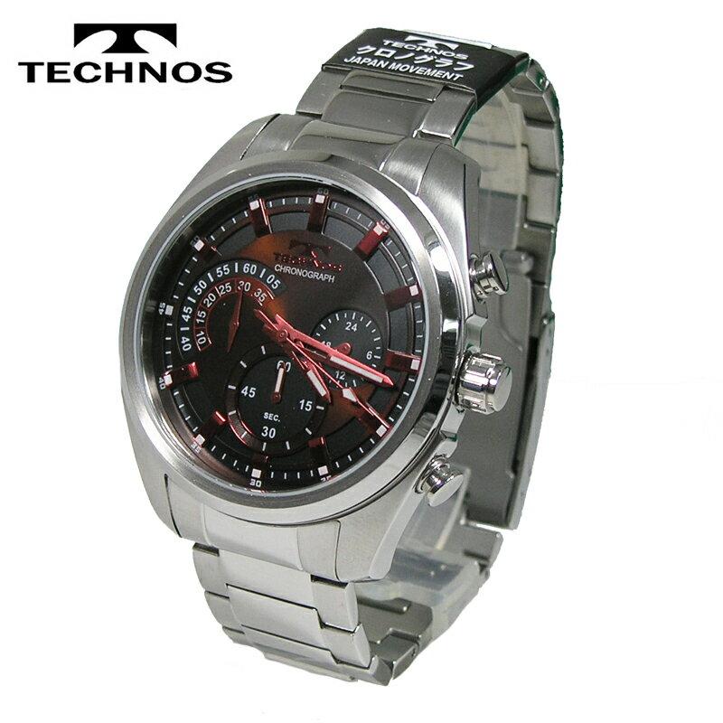 【送料無料】TECHNOS/テクノス クロノグラフ クオーツ メンズ 腕時計 T6589SA