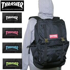 90493dff30 送料無料 THRASHER スラッシャー THRRM501 バッグ フラップ 型 リュックサック かぶせリュック バックパック