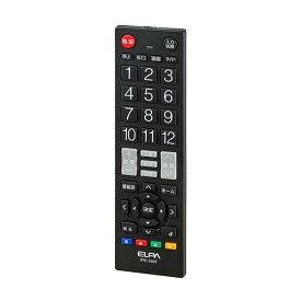 【暮らしラクラク応援セール】ELPA(エルパ) テレビリモコン ブラック IRC-203T(BK)【取り寄せ・同梱注文不可】