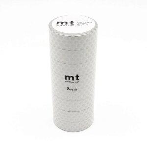 【暮らしラクラク応援セール】mt マスキングテープ 8P ドット・銀 MT08D366【取り寄せ・同梱注文不可】