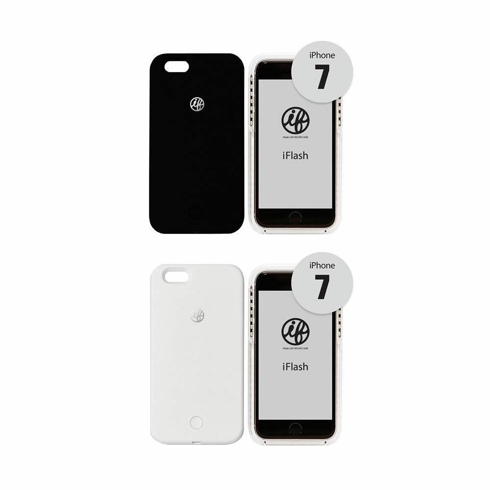 送料別 【取り寄せ】 iFlash for iPhone 7 セルフィーライト付きスマホケース【代引き不可】