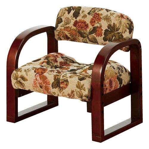 送料別 【取り寄せ】 やすらぎ美尻座椅子 ゴブラン 花柄 YZ-02GB【代引き不可】