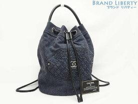 9b81644dc019 【レア 未使用】シャネル CHANEL デニム 2WAY リュックサック バックパック ハンドバッグ 巾着型