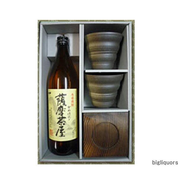 薩摩茶屋カップ付焼酎セット酔々工房【□】