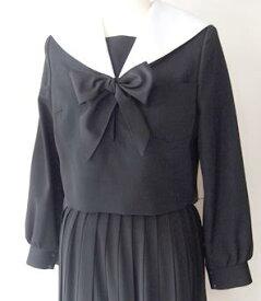 【別注用上下セット】冬 黒セーラー服(ウール100%) ラインなし/白衿カバー/28車ヒダスカート