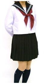 【大きいサイズ】紺 長袖セーラー服 上着のみ 〜175cm 紺衿白ライン【長袖】【定番】【国内縫製】【日本製】オーダーセーラー承ります