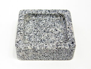 【御影石(ミカゲ石)】 お墓用供物台 角皿 幸輝石 磨き 【墓石用】