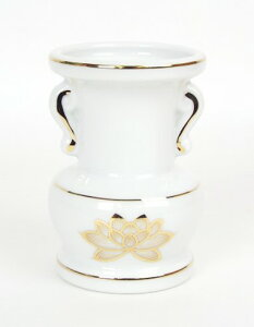 大玉仏花 上金蓮 白磁3寸 1個売り【花瓶】【花立】