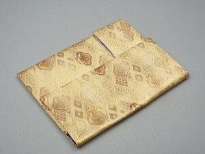 金欄位牌入れ 大 ベージュ色【菩提寺への持ち運び袋・進物線香など持参用袋にもなります】位牌包み 位牌袋 ふくさ 袱紗