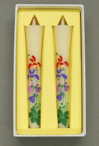 【手描き絵和ろうそく】和蝋燭「3月の花/すみれ:3号」