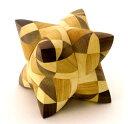 Dual Tetrahedron 28 デュアルテトラへドロン 木製 パズル トリックパズル 立体パズル 脳トレ 知育 からくり 寄木細工 チェコ VIN&CO...