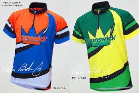 【Brunswick】 PBAレプリカウェア パーカーボーン3世モデル 立襟ジッパーシャツ (男女兼用サイズ)