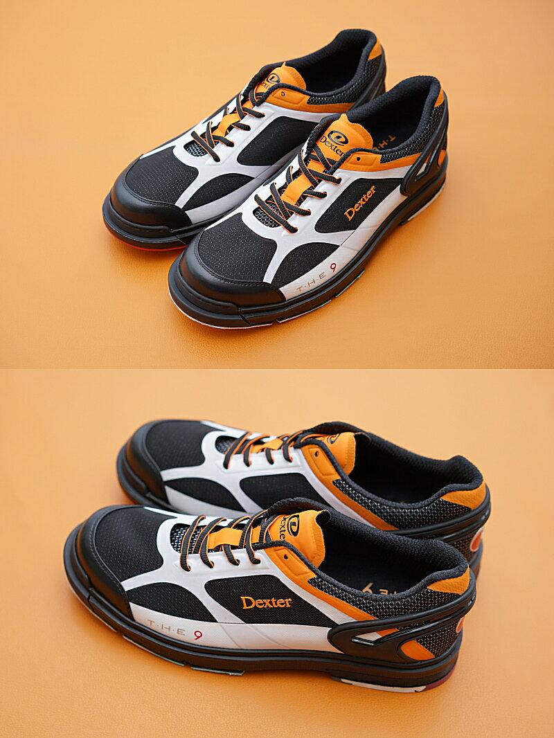 【Dexter】 THE 9(ザ・ナイン)・HT(High Tech)スポーツモデル【オレンジ・ホワイト・ブラック】 メンズ ボウリングシューズ(左右兼用モデル) 【送料無料】