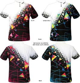 【SSOSIO お取り寄せ】 ソシオSST-52133(Men's),SST-72133(Ladie's) ジップアップハイネック ボウリングシャツ