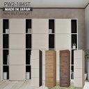 本棚 扉付き【日本製】シンプルデザインがスタイリッシュなドアタイプの壁面収納!おしゃれ 収納家具 書棚