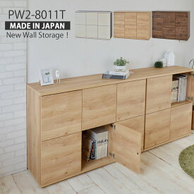 本棚 【日本製】シンプルデザインがスタイリッシュなキャビネットタイプの壁面収納! おしゃれ 収納家具 書棚