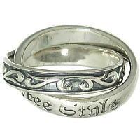 ダブルトライバル シルバーリング(指輪)*FREE STYLE(フリースタイル)
