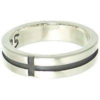 凹クロス シルバーリング(メンズ)(指輪)*FREE STYLE(フリースタイル)