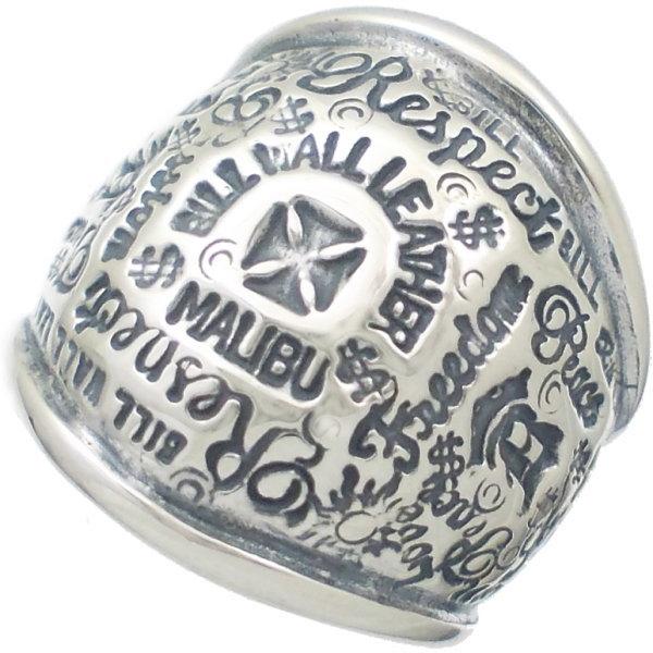 グラフィティ ドーム シルバーリング(指輪)*BWL(ビルウォールレザー)