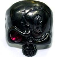 ブラックロックスカルストーンブラスリング(指輪)*Gaudi(ガウディジュエリー)