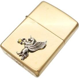 イエロージルコニア 有翼の ユニコーン センターブラスジッポ 金運 開運 誕生石