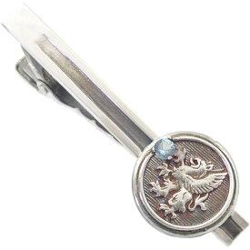 (3月)アクアマリン グリフォン メダル シルバー925ネクタイピン誕生石