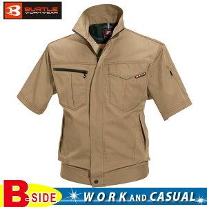 バートル【BURTLE】半袖ジャケット【MENS メンズ】豊富なカラーコーディネート対応 製品制電JIS T8118適合品 (SS・Sサイズはレディース対応シルエット) 6082定番作業服からおしゃれなワーク